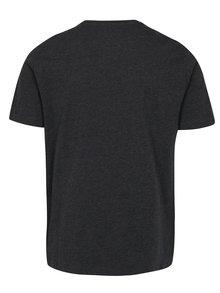Tmavosivé melírované tričko Original Penguin Pin Point