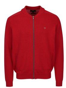 Cardigan rosu tricotat fin cu maneci raglan-  Fynch-Hatton