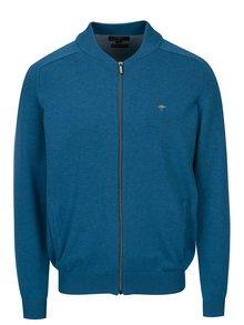 Cardigan albastru tricotat fin cu maneci raglan - Fynch-Hatton