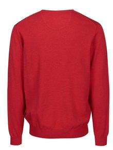 Pulover rosu cu anchior si logo brodat -  Fynch-Hatton