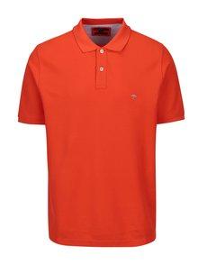 Oranžová polokošeľa s krátkym rukávom Fynch-Hatton