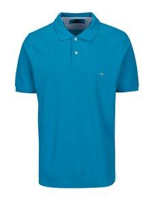 Tricou polo albastru cu logo brodat -  Fynch-Hatton