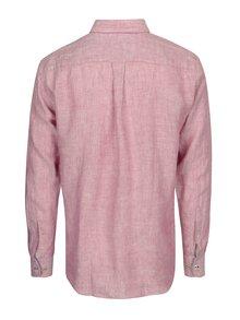 Camasa roz melanj cu buzunar la piept - Fynch-Hatton