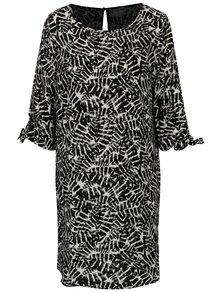 Krémovo-čierne vzorované šaty Jacqueline de Yong Beyond