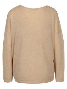 Béžový trblietavý tenký oversize sveter ONLY Geena