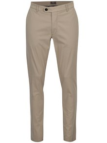 Pantaloni chino bej modern fit - Fynch-Hatton