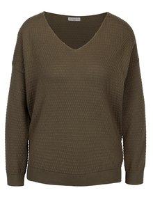 Kaki vzorovaný sveter Jacqueline de Yong Barbera