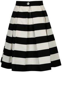 Čierno-krémová pruhovaná kolová sukňa SAINT DOT Navy Black