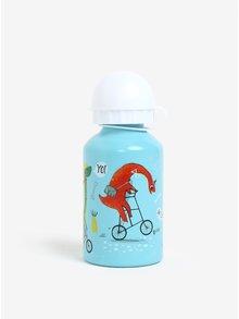 Svetlomodrá fľaša s dinosaurom Sass & Belle Dino Skate