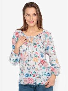 Bluza lejera crem cu print floral  M&Co