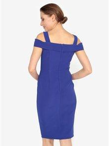 Modré šaty s odhalenými rameny M&Co