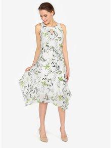 Krémové vzorované šaty s volány M&Co