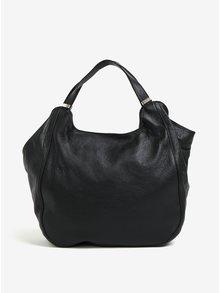 Čierna dámska kožená kabelka KARA