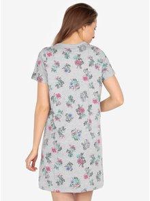 Sivá kvetovaná nočná košeľa M&Co