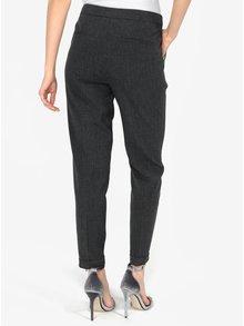 Pantaloni drepti gri inchis cu talie clasica - VERO MODA Olivia