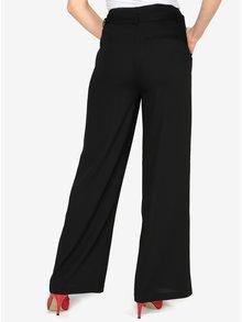 Pantaloni culottes negri cu talie inalta - VERO MODA Emmy