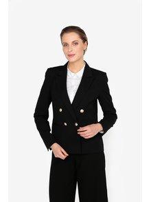 Čierne sako s gombíkmi v zlatej farbe Miss Selfridge