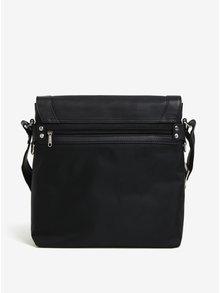 Čierna pánska kožená taška KARA