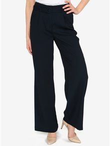 Pantaloni culottes bleumarin cu talie inalta -VERO MODA Emmy