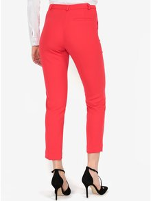 Pantaloni rosii cropped cu talie inalta - Miss Selfridge