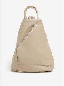 Béžový dámsky kožený batoh KARA