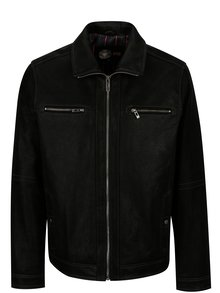 Jacheta neagra din piele pentru barbati KARA Mats