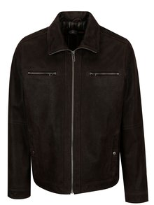Jacheta maro din piele naturala pentru barbati KARA Mats