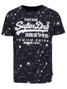 Tricou bleumarin cu print pentru barbati - Superdry