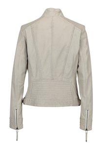 Jacheta crem din piele naturala cu perforatii KARA Zafira