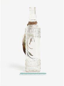 Transparentná dekoračná sklenená fľaša Kaemingk