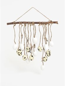 Decoratiune maro & crem de agatat cu oua - Kaemingk