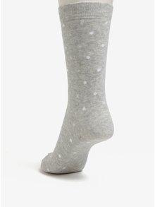 Světle šedé dámské žíhané puntíkované ponožky ZOOT