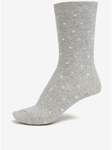 Světle šedé dámské žíhané puntíkované ponožky ZOOT cb2bbfbdd2