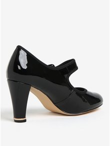Pantofi negri de lac cu catarama Dorothy Perkins