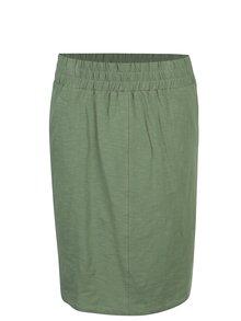 Zelená tepláková sukňa s vreckami Tranquillo Leora