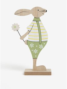 Drevená dekorácia v tvare zajaca Dakls