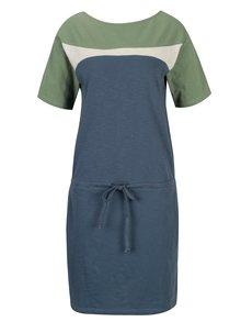 Rochie albastra cu talie elastica Tranquillo Lana