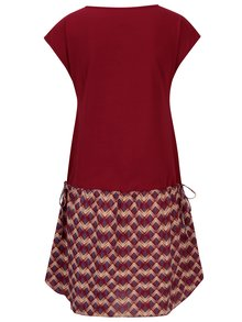 Vínové šaty se stahováním na bocích Tranquillo Phelia