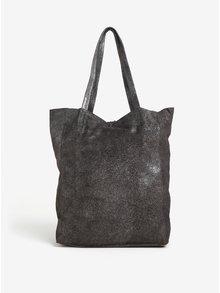 Tmavě šedý třpytivý semišový shopper ZOOT Glitter