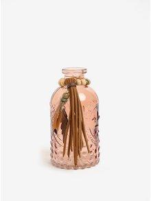 Hnědá malá dekorační skleněná lahev Kaemingk