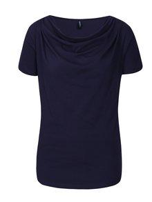 Tmavomodré tričko s nazberkaním v dekolte Tranquillo Vitisa
