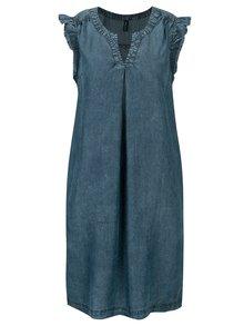 Modré šaty s vreckami Tranquillo Salvia