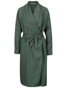 Zelený lehký kabát se zavazováním Noisy May Fia