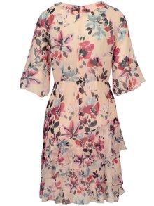 Růžové květované šaty French Connection