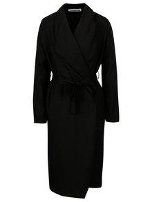 Černý lehký kabát se zavazováním Noisy May Fia
