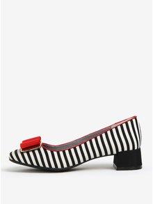 Pantofi alb & negru cu toc mic si funda - Ruby Shoo June