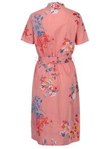 Krémovo-červené pruhované kvetované šaty Noisy May Conansa