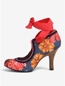 Modré květované lodičky na zavazání Ruby Shoo Willow