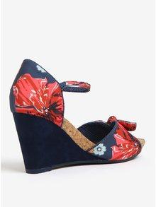 Tmavě modré sandálky na klínku Ruby Shoo Molly