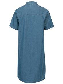 Rochie din denim albastra cu buzunare Cross Jeans